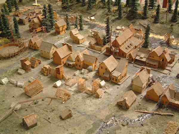 Actual miniature set used in movie on display at the museum.